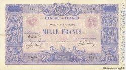 1000 Francs BLEU ET ROSE FRANCE  1920 F.36.35 TB à TTB
