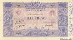 1000 Francs BLEU ET ROSE FRANCE  1925 F.36.41 TTB+ à SUP