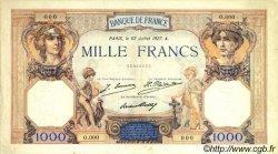 1000 Francs CÉRÈS ET MERCURE FRANCE  1927 F.37.00 TTB+