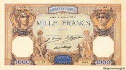 1000 Francs CÉRÈS ET MERCURE FRANCE  1927 F.37.01 SUP+