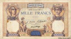 1000 Francs CÉRÈS ET MERCURE FRANCE  1927 F.37.01 B+