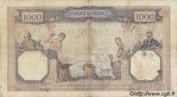 1000 Francs CÉRÈS ET MERCURE FRANCE  1930 F.37.04 pr.TB