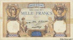 1000 Francs CÉRÈS ET MERCURE FRANCE  1931 F.37.06 TB