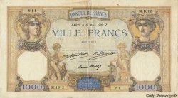 1000 Francs CÉRÈS ET MERCURE FRANCE  1932 F.37.07 pr.TB