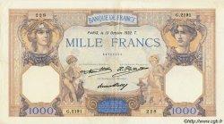 1000 Francs CÉRÈS ET MERCURE FRANCE  1932 F.37.07 TTB à SUP