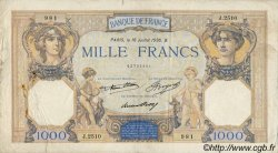 1000 Francs CÉRÈS ET MERCURE FRANCE  1936 F.37.09 TB+