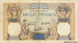 1000 Francs CÉRÈS ET MERCURE type modifié FRANCE  1937 F.38 B à TB