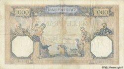1000 Francs CÉRÈS ET MERCURE type modifié FRANCE  1937 F.38.02 pr.TTB