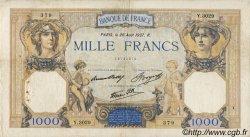 1000 Francs CÉRÈS ET MERCURE type modifié FRANCE  1937 F.38.03 pr.TB