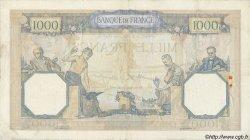 1000 Francs CÉRÈS ET MERCURE type modifié FRANCE  1937 F.38.04 TB+