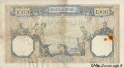 1000 Francs CÉRÈS ET MERCURE type modifié FRANCE  1937 F.38.04
