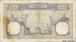 1000 Francs CÉRÈS ET MERCURE type modifié FRANCE  1937 F.38.08 B