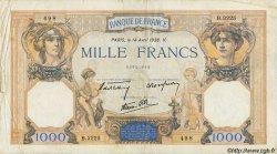 1000 Francs CÉRÈS ET MERCURE type modifié FRANCE  1938 F.38.11 B à TB