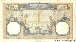1000 Francs CÉRÈS ET MERCURE type modifié FRANCE  1938 F.38.17 TB