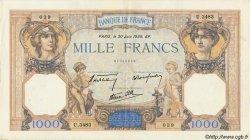 1000 Francs CÉRÈS ET MERCURE type modifié FRANCE  1938 F.38.21 TTB+