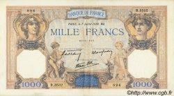 1000 Francs CÉRÈS ET MERCURE type modifié FRANCE  1938 F.38.22 pr.SUP