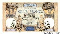 1000 Francs CÉRÈS ET MERCURE type modifié FRANCE  1938 F.38.24 SUP