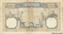 1000 Francs CÉRÈS ET MERCURE type modifié FRANCE  1938 F.38.27 TB