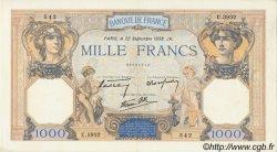 1000 Francs CÉRÈS ET MERCURE type modifié FRANCE  1938 F.38.27 SUP