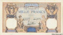 1000 Francs CÉRÈS ET MERCURE type modifié FRANCE  1938 F.38.31 TTB
