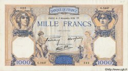 1000 Francs CÉRÈS ET MERCURE type modifié FRANCE  1938 F.38.32 TTB à SUP