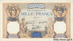 1000 Francs CÉRÈS ET MERCURE type modifié FRANCE  1939 F.38.37 SUP