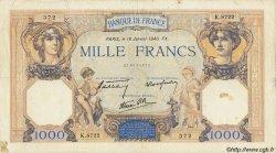 1000 Francs CÉRÈS ET MERCURE type modifié FRANCE  1940 F.38.41 pr.TB