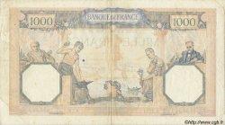 1000 Francs CÉRÈS ET MERCURE type modifié FRANCE  1940 F.38.42 TB+ à TTB