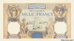 1000 Francs CÉRÈS ET MERCURE type modifié FRANCE  1940 F.38.44 SUP+ à SPL