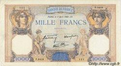 1000 Francs CÉRÈS ET MERCURE type modifié FRANCE  1940 F.38.45 TTB