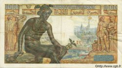 1000 Francs DÉESSE DÉMÉTER FRANCE  1942 F.40.01 TB