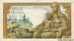 1000 Francs DÉESSE DÉMÉTER FRANCE  1942 F.40.02 TB à TTB