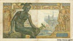 1000 Francs DÉESSE DÉMÉTER FRANCE  1942 F.40.02 TB