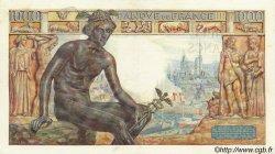 1000 Francs DÉESSE DÉMÉTER FRANCE  1942 F.40.06 TTB+