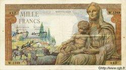 1000 Francs DÉESSE DÉMÉTER FRANCE  1942 F.40.07 TTB