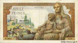 1000 Francs DÉESSE DÉMÉTER FRANCE  1943 F.40.15 TB+