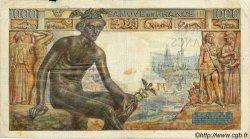 1000 Francs DÉESSE DÉMÉTER FRANCE  1943 F.40.16 TB à TTB