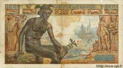 1000 Francs DÉESSE DÉMÉTER FRANCE  1943 F.40.17 B+
