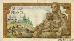 1000 Francs DÉESSE DÉMÉTER FRANCE  1943 F.40.18 pr.TB