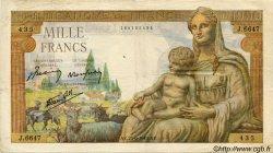 1000 Francs DÉESSE DÉMÉTER FRANCE  1943 F.40.28 TB