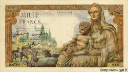 1000 Francs DÉESSE DÉMÉTER FRANCE  1943 F.40.29 SUP