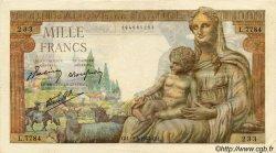 1000 Francs DÉESSE DÉMÉTER FRANCE  1943 F.40.33 TTB