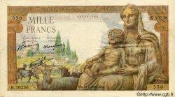 1000 Francs DÉESSE DÉMÉTER FRANCE  1943 F.40.40 TB