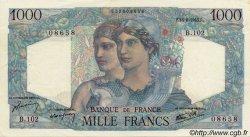 1000 Francs MINERVE ET HERCULE FRANCE  1945 F.41 TTB