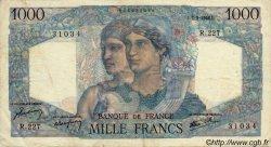 1000 Francs MINERVE ET HERCULE FRANCE  1946 F.41.12 TTB