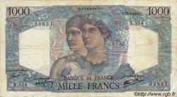 1000 Francs MINERVE ET HERCULE FRANCE  1946 F.41.16 TB+