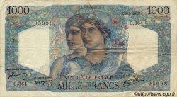 1000 Francs MINERVE ET HERCULE FRANCE  1947 F.41.18 TB+