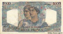 1000 Francs MINERVE ET HERCULE FRANCE  1948 F.41.21 pr.SUP