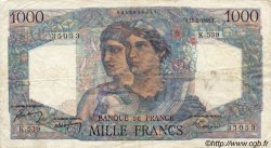 1000 Francs MINERVE ET HERCULE FRANCE  1949 F.41.25 TB à TTB