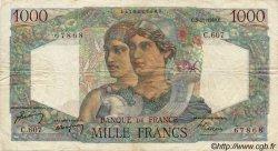 1000 Francs MINERVE ET HERCULE FRANCE  1949 F.41.29 TB à TTB